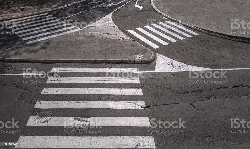 Pedestrian crossings stock photo
