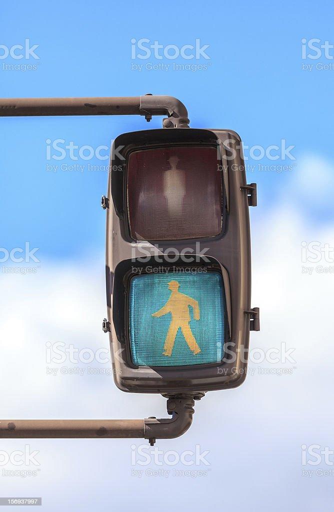 Pedestrian Go Signal of japan stock photo