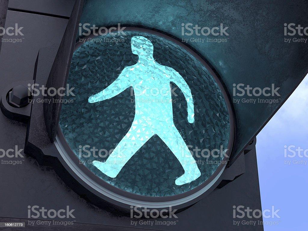 Pedestrian Green Light royalty-free stock photo