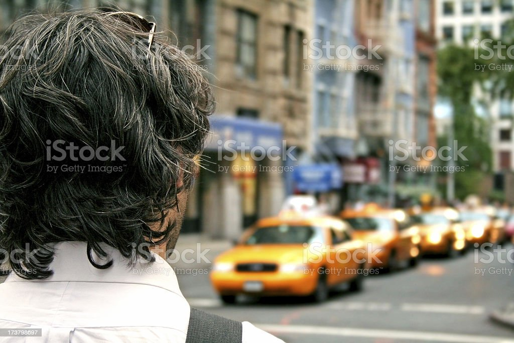 Pedestrian in NYC royalty-free stock photo