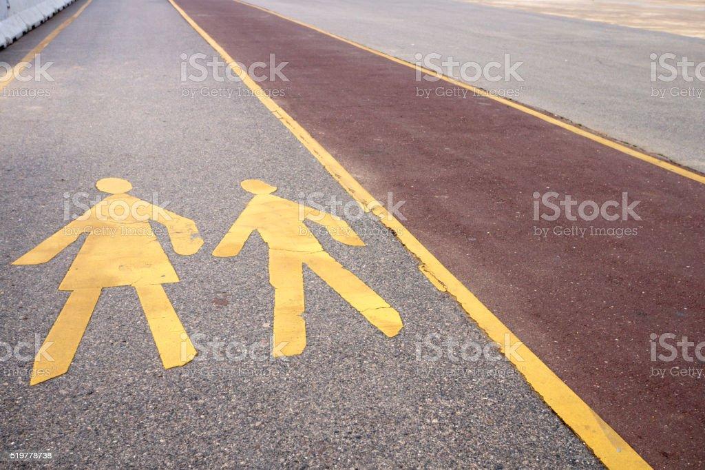 Pedestrian Lane stock photo