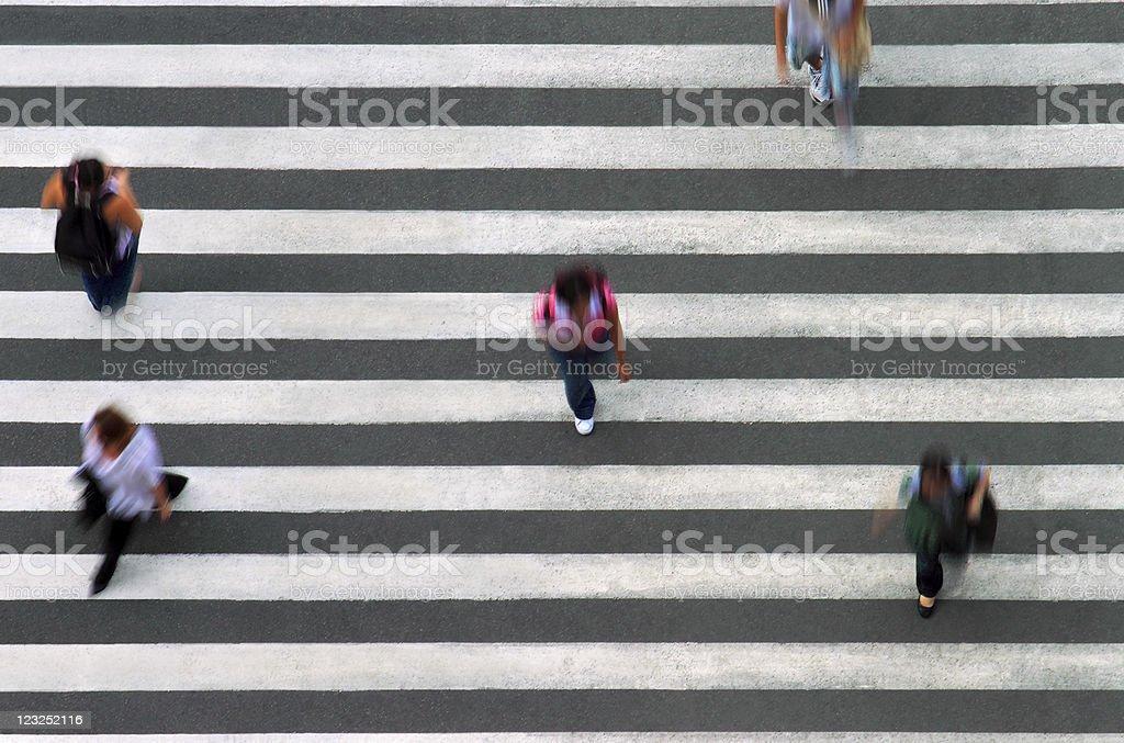 Pedestrian line stock photo