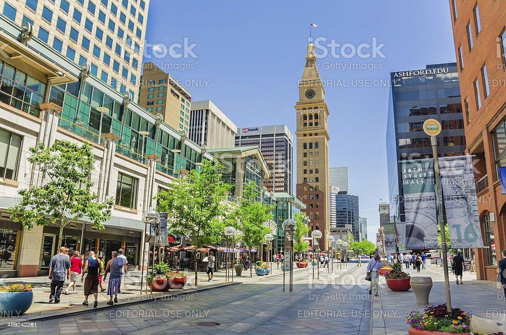 Pedestrian Mall in Denver stock photo