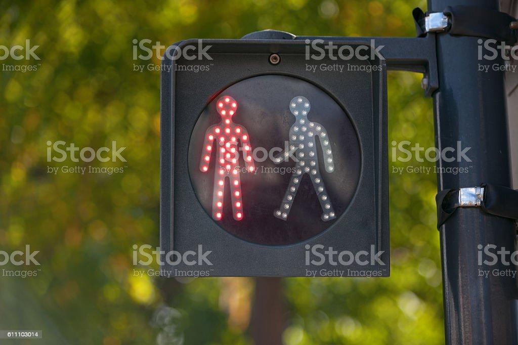 Pedestrian red light stock photo