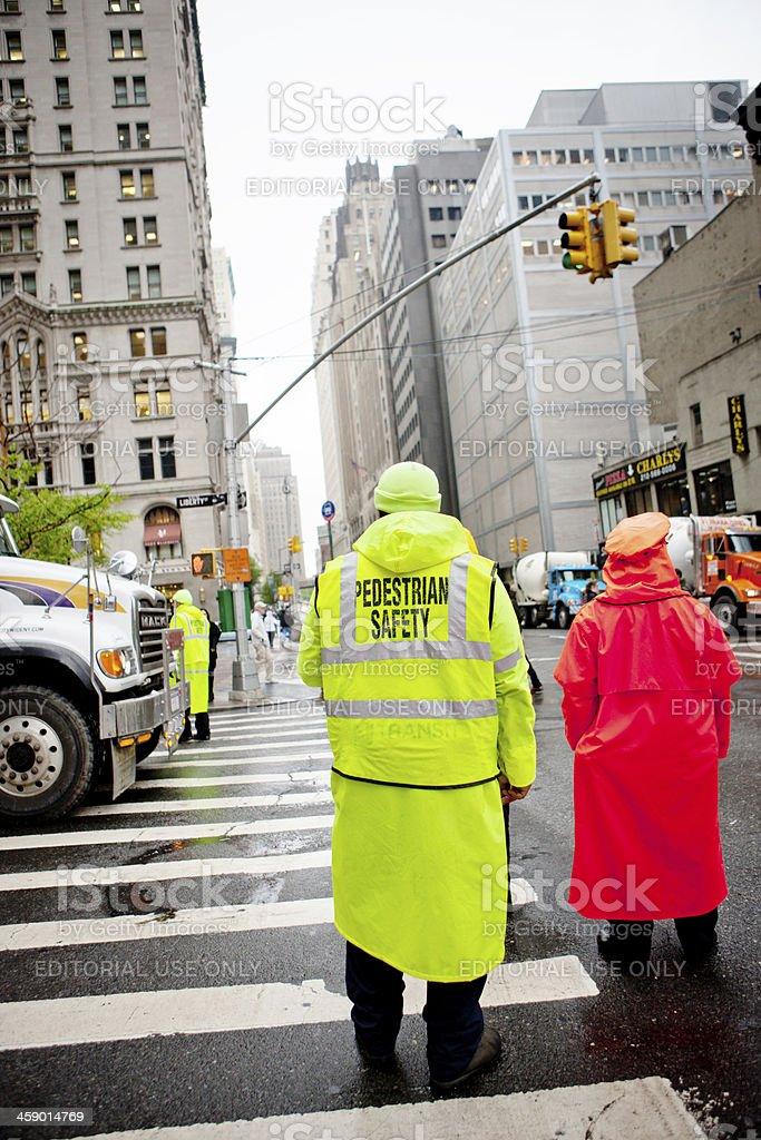 'Pedestrian safety in New York, USA' stock photo