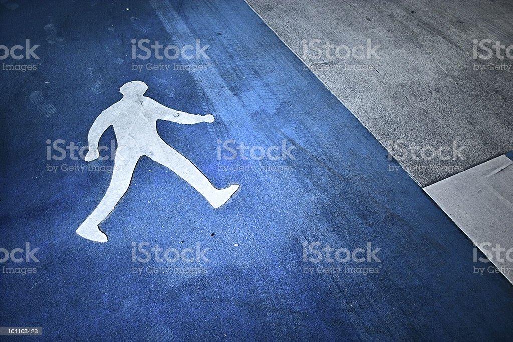 pedestrian sign royalty-free stock photo