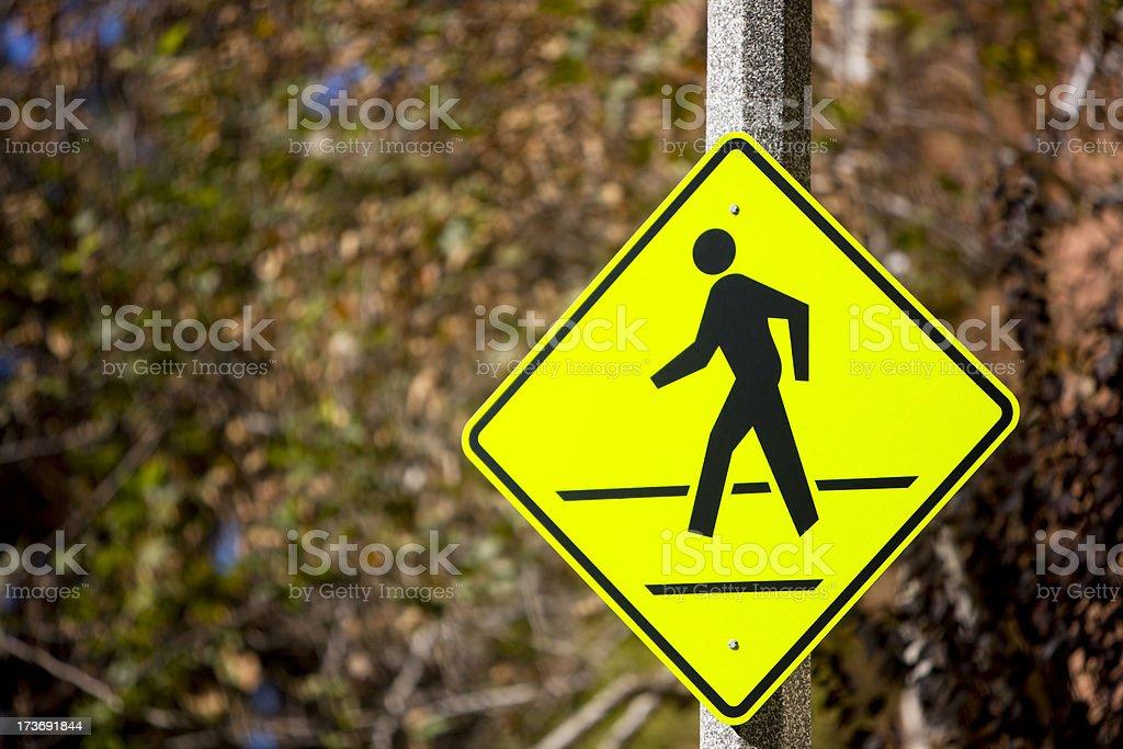Pedestrian sign stock photo