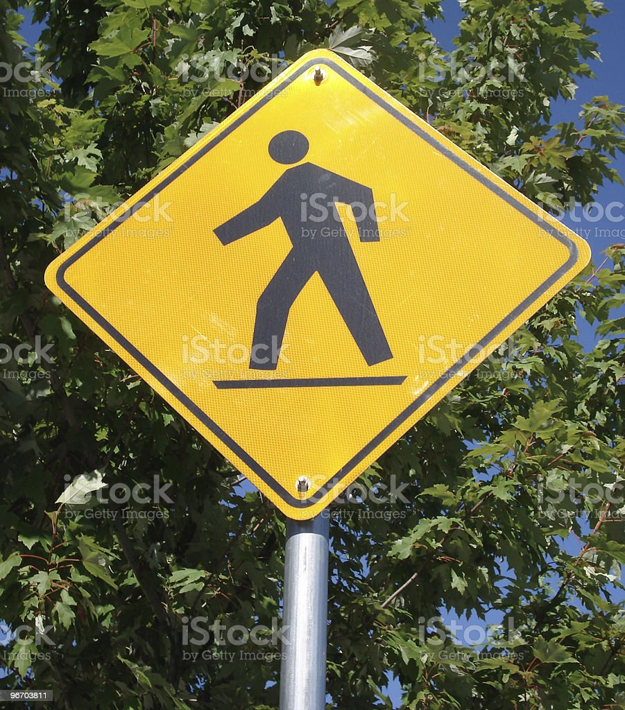 pedestrian sign royalty-free stock photo