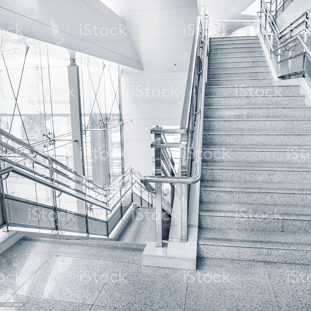 pedestrian stairs stock photo