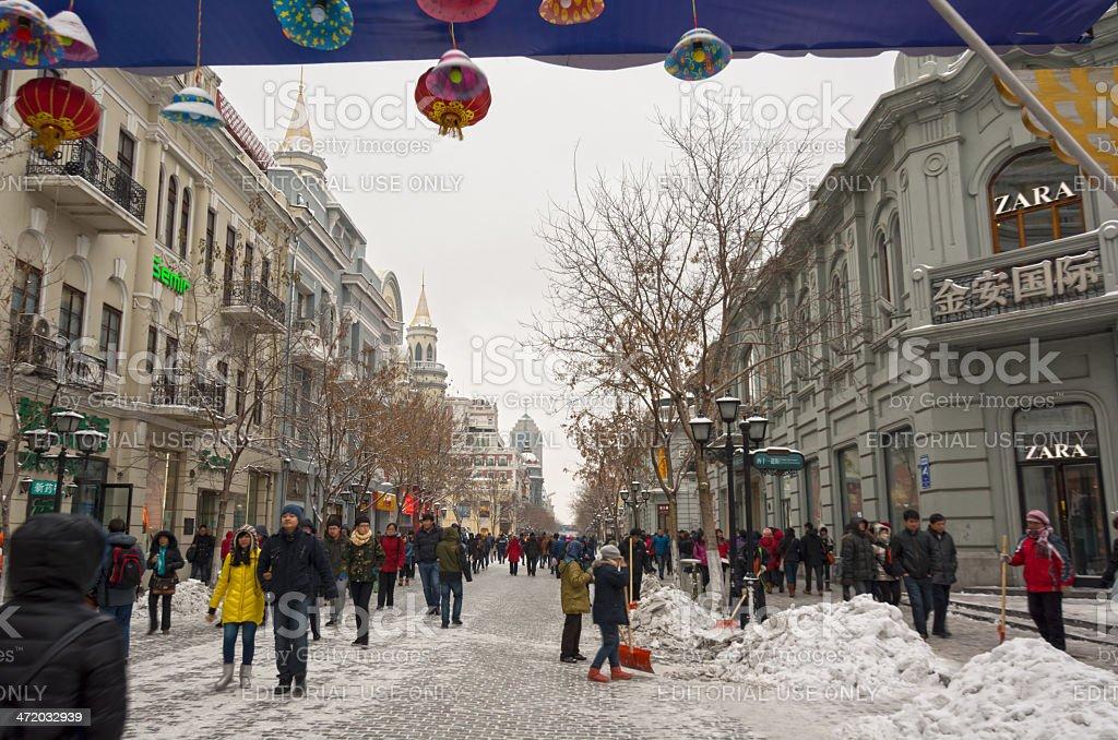 Pedestrian street stock photo