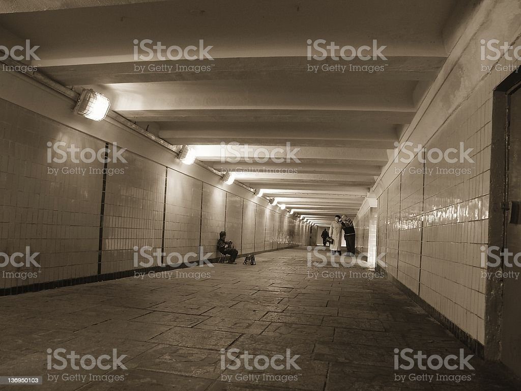 pedestrian subway royalty-free stock photo