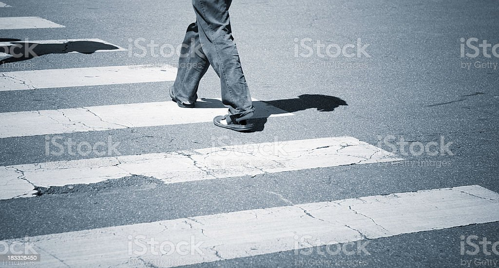 Pedestrian traveller commuters - crowed people royalty-free stock photo