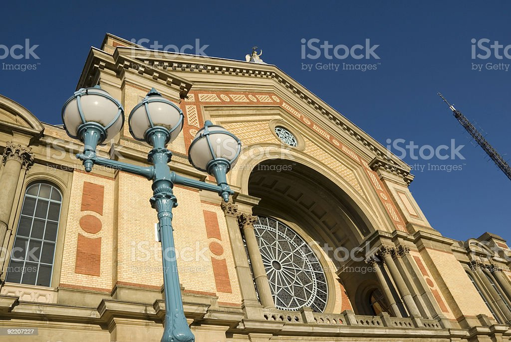 A pedestrian view of Alexandra Palace stock photo
