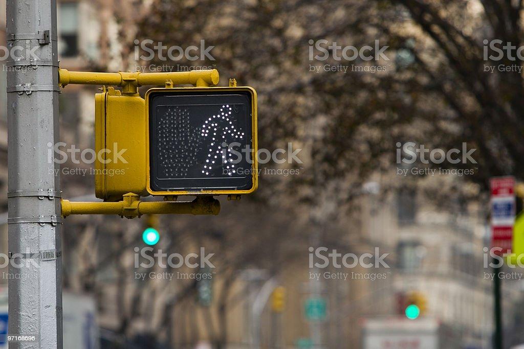 Pedestrian walk light stock photo