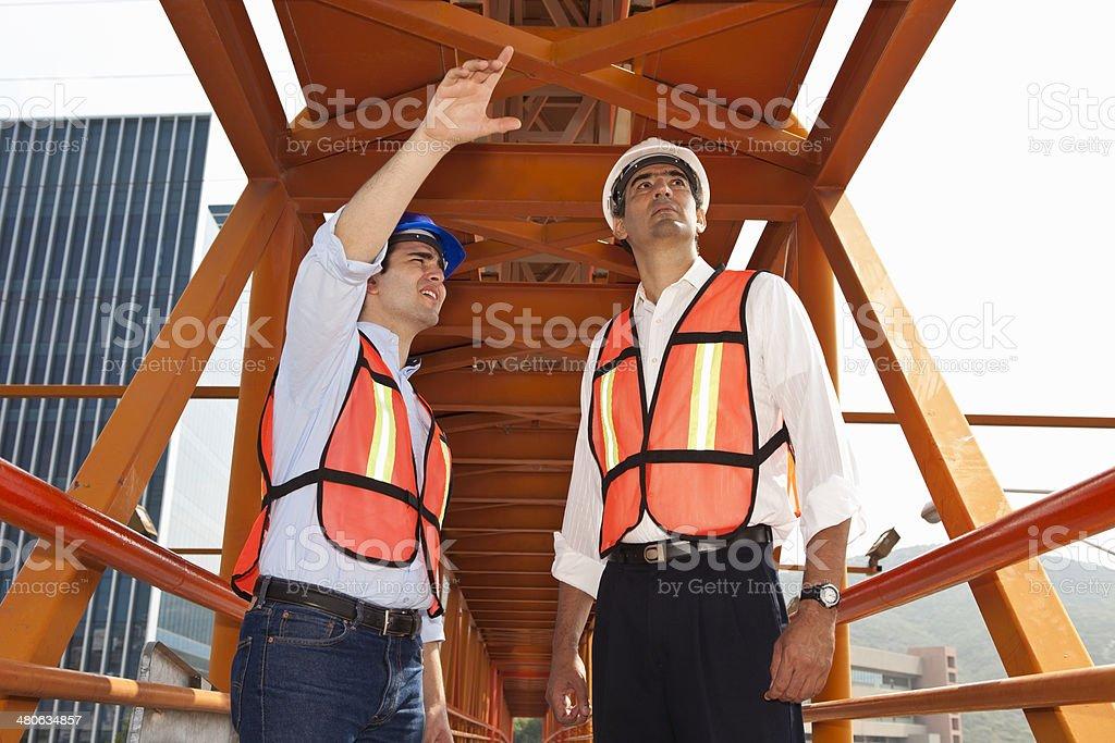 Pedestrian Walkway Bridge royalty-free stock photo