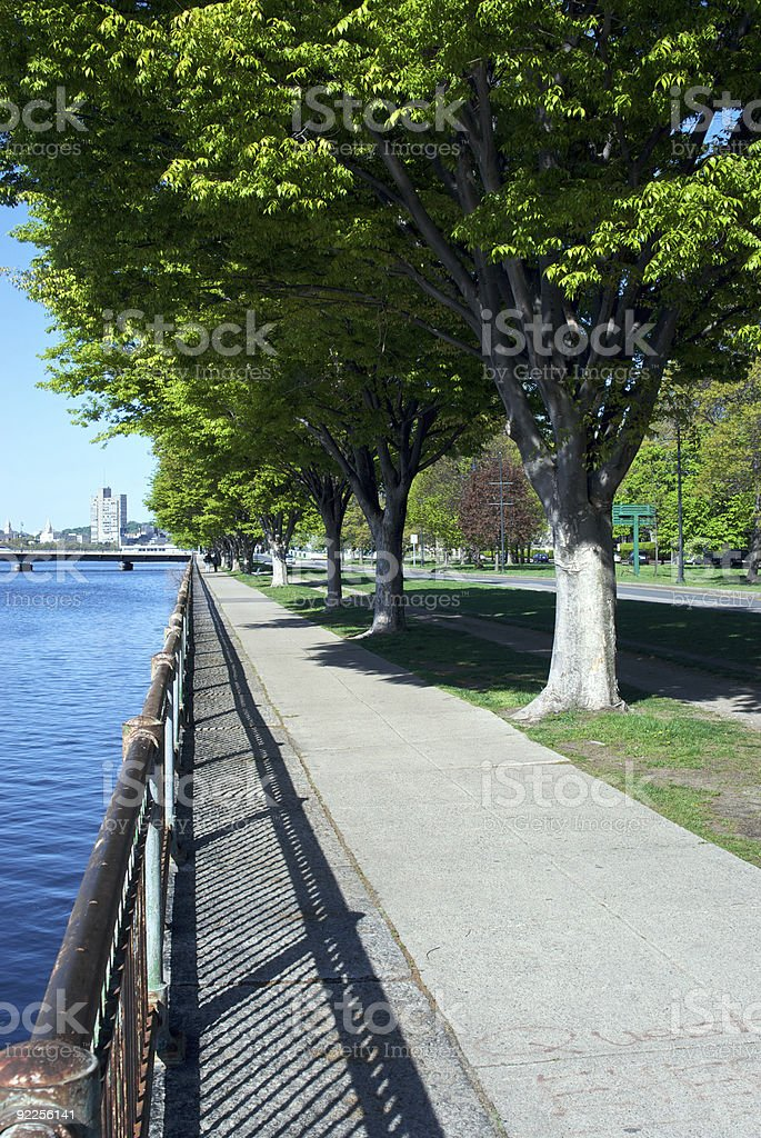 pedestrian walkway royalty-free stock photo