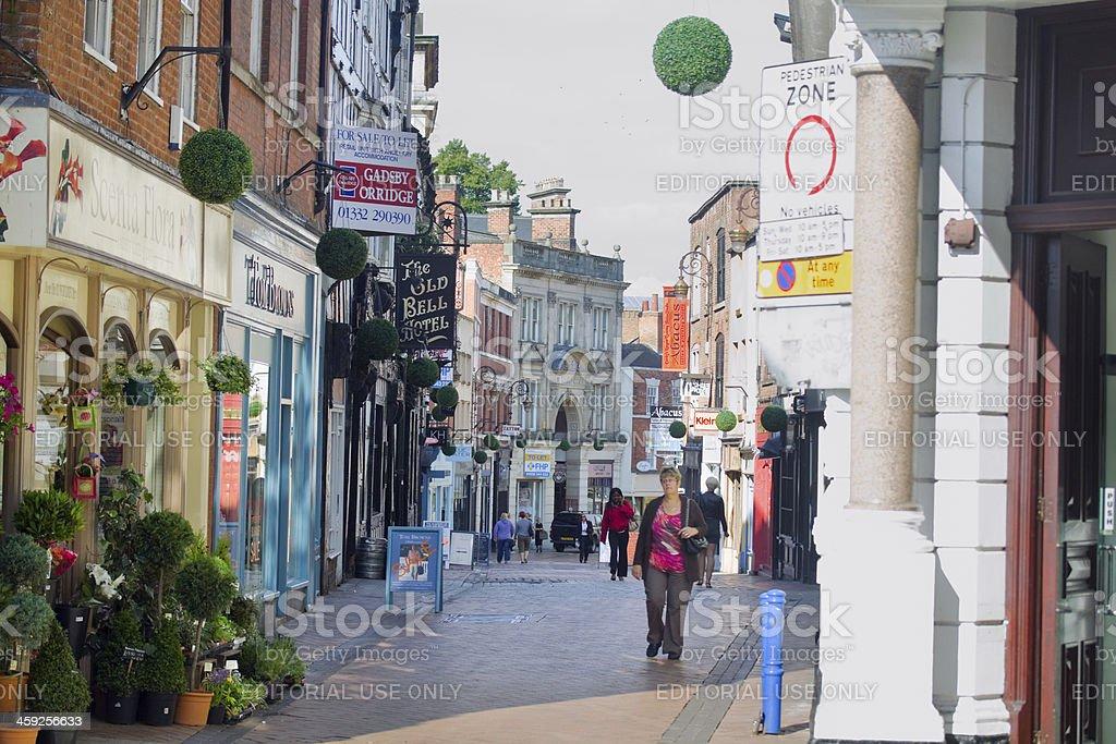 Pedestrian zone of Derby royalty-free stock photo