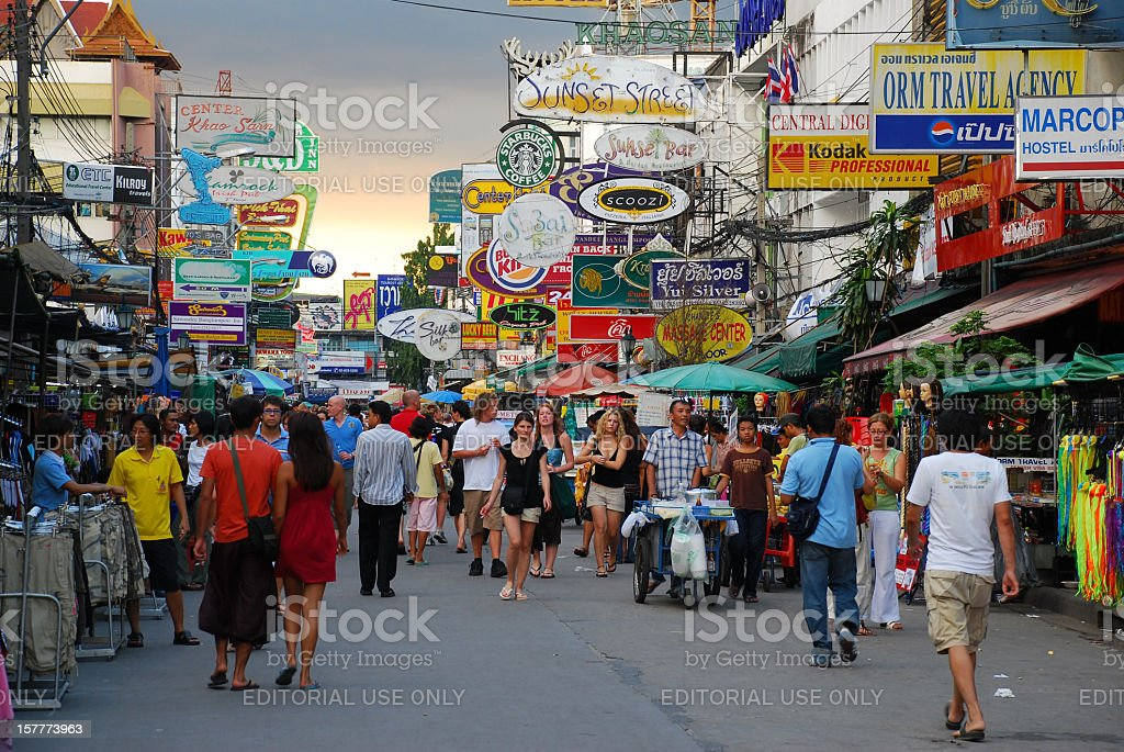 Khao San Road in Bangkok, Thailand royalty-free stock photo