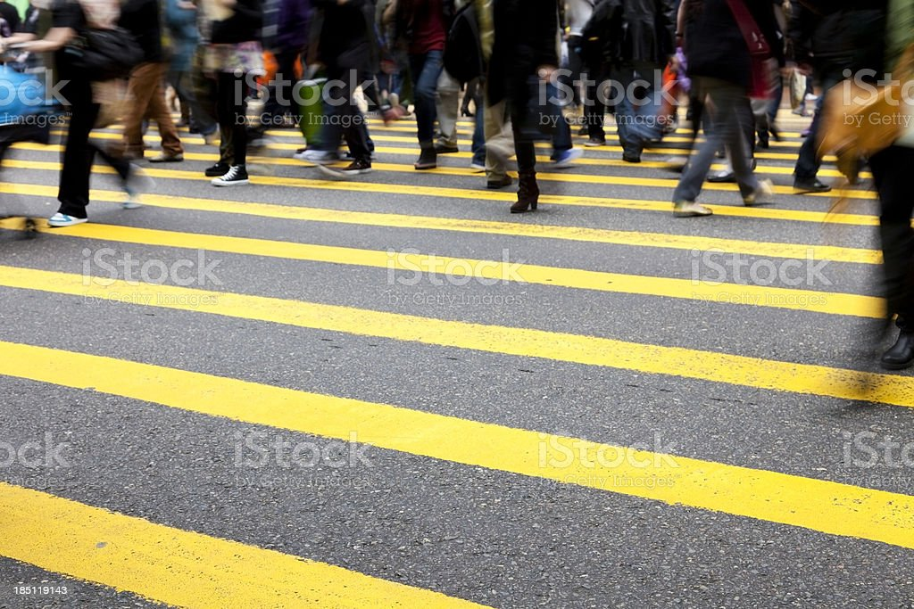 Pedestrians in Hong Kong royalty-free stock photo