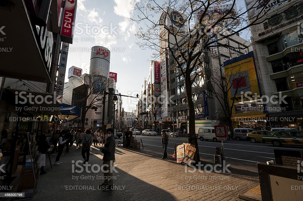 Pedestrians in Shibuya, Tokyo, Japan stock photo