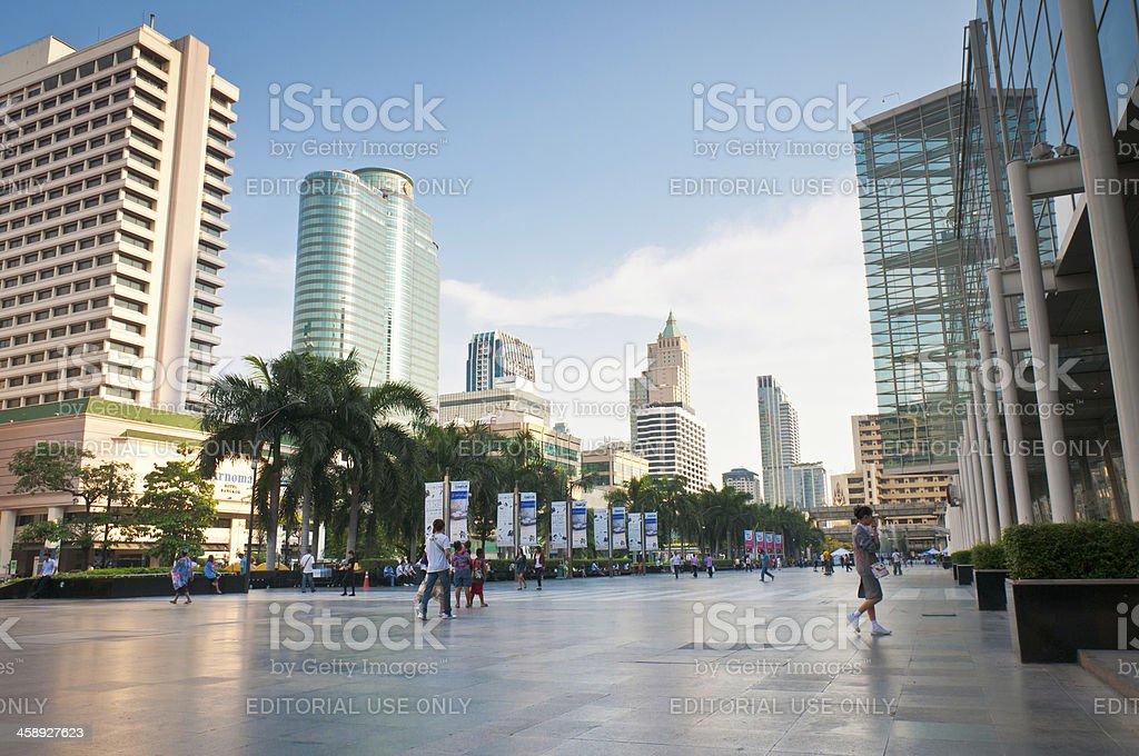 Pedestrians In The Centre Of Bangkok, Thailand stock photo