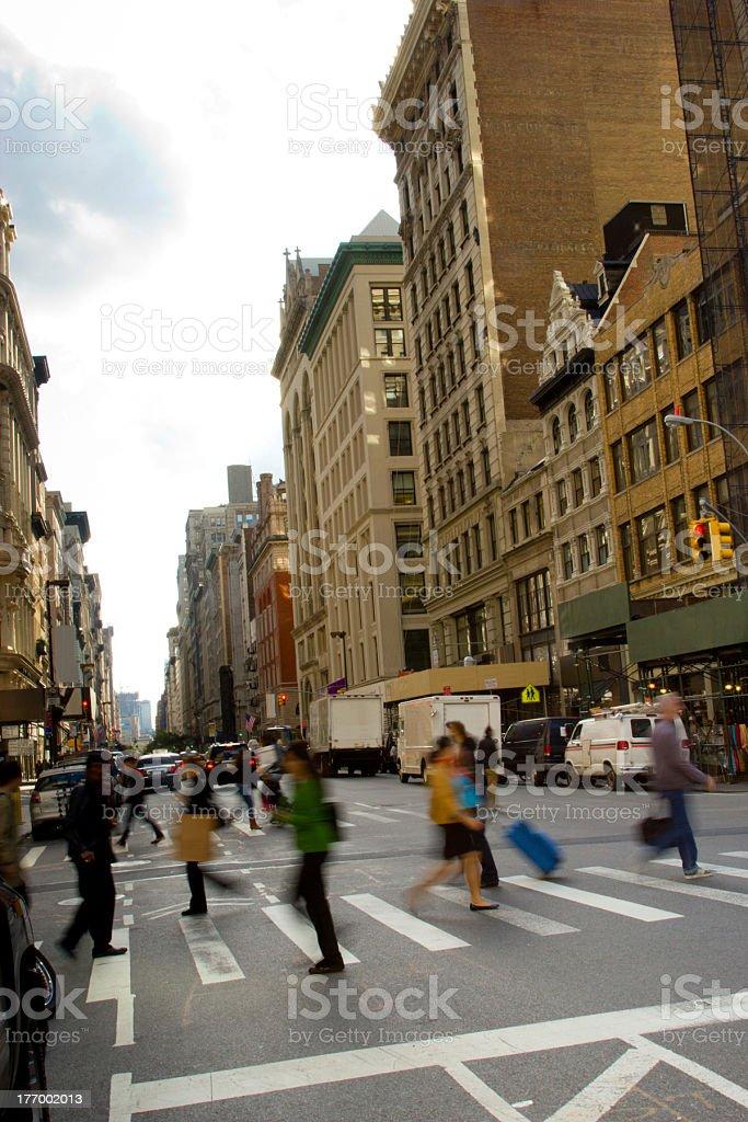 Pedestrians on Fifth Ave., NY royalty-free stock photo