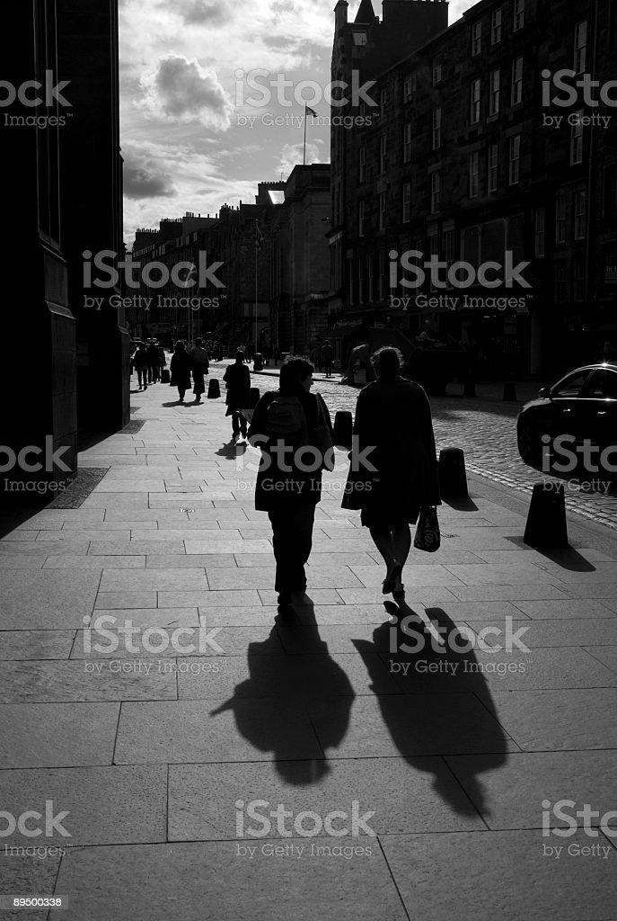 Pedestrians. stock photo