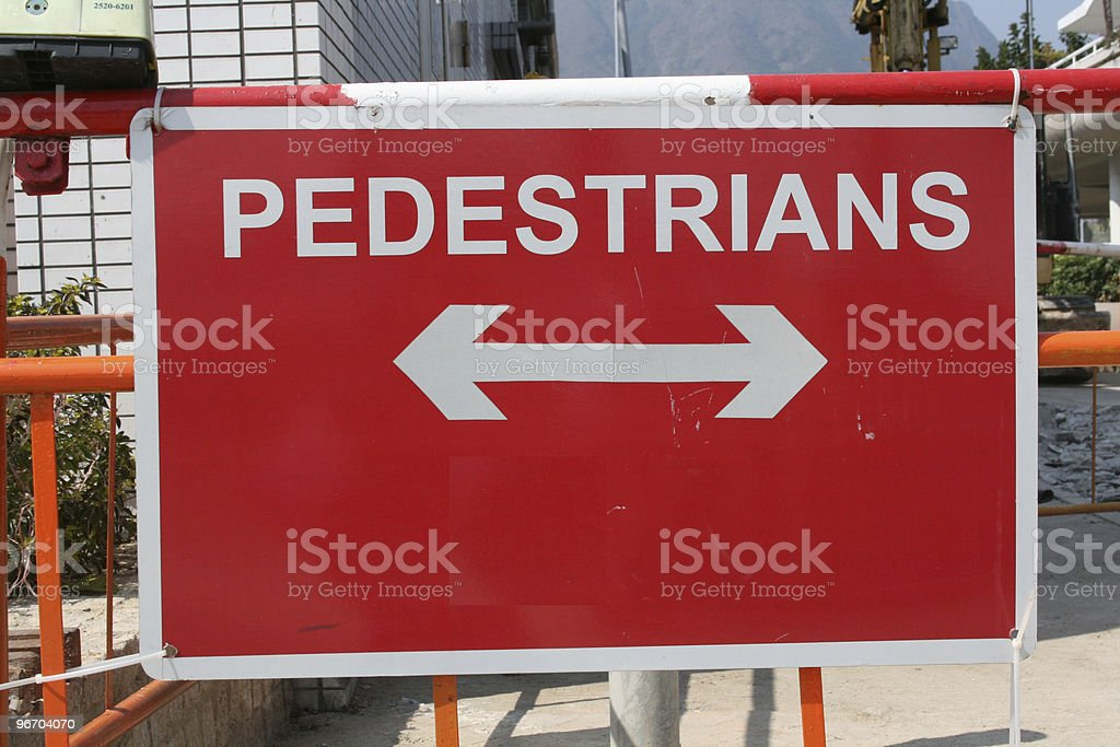 Pedestrians  sign royalty-free stock photo