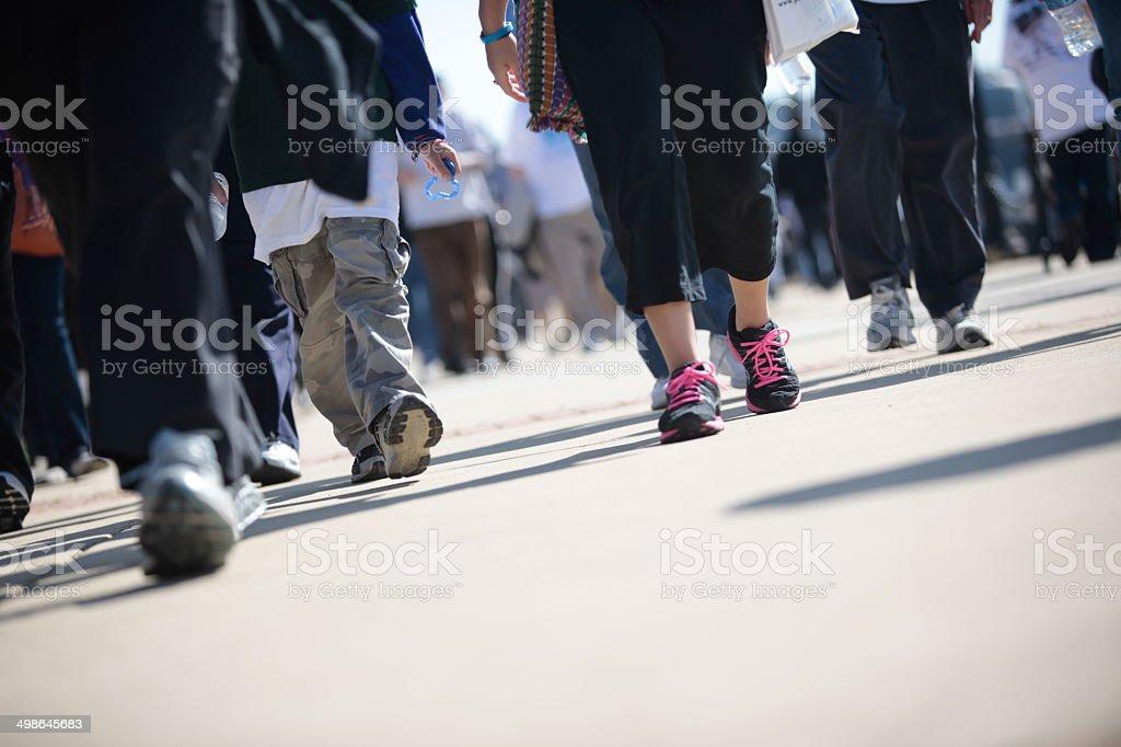 Pedestrians Walkers stock photo