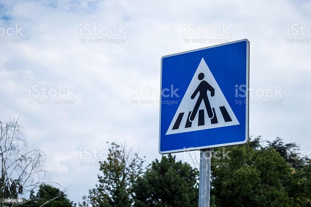 Pedestrian/Zebra Crossing Crosswalk Sign stock photo