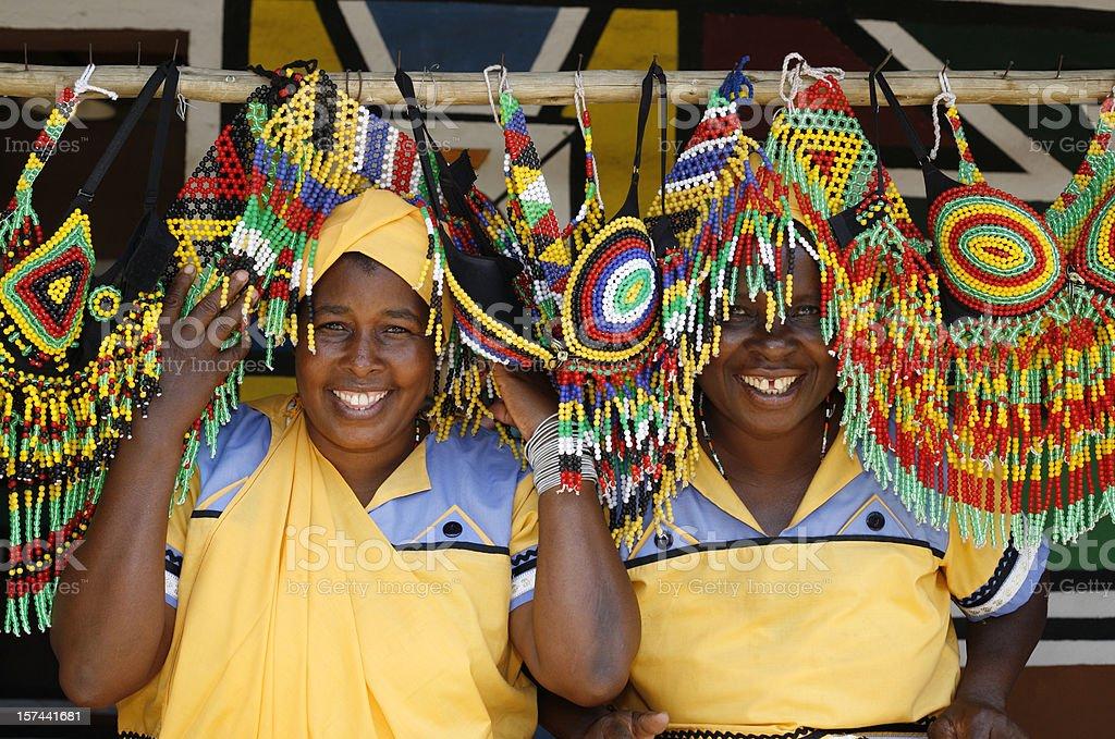 Pedi souvenirs South Africa stock photo