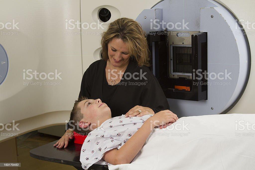 Pediatric Cancer Treatment stock photo