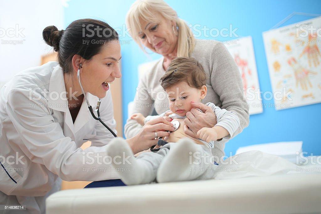 Pediatra - fotografia de stock
