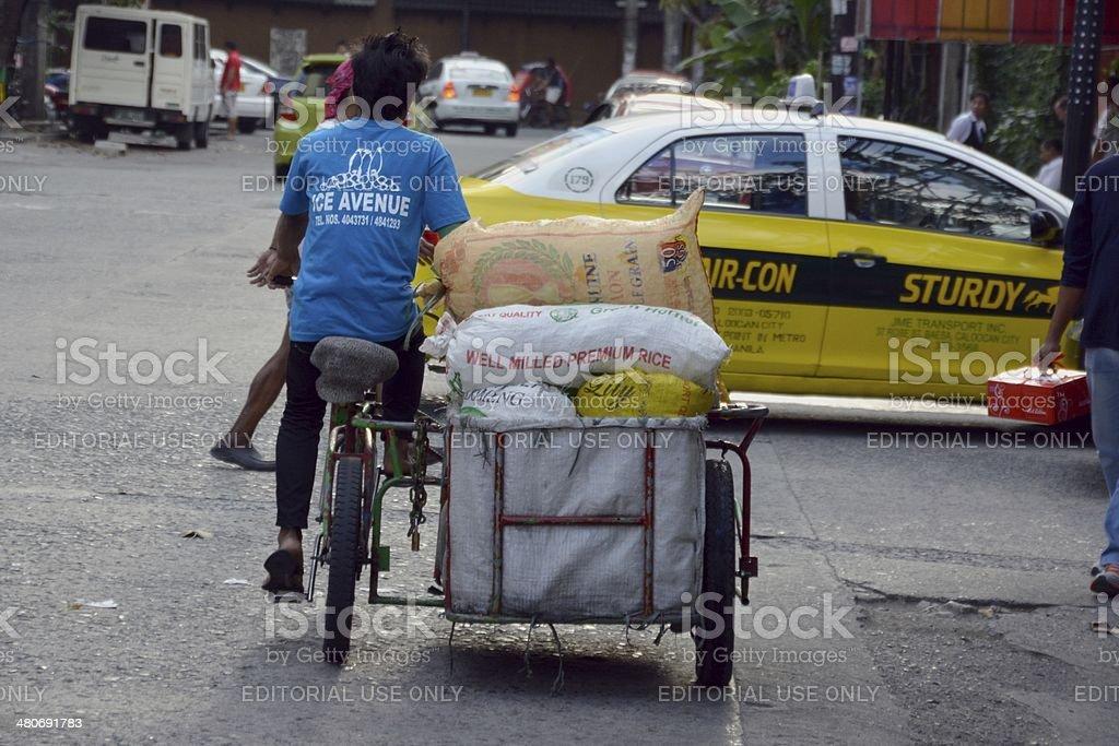 pedicab in Manila, Philippines stock photo
