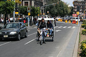 Pedicab in the streets of downton in México City.