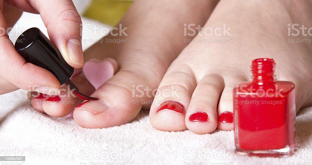 pedicure royalty-free stock photo