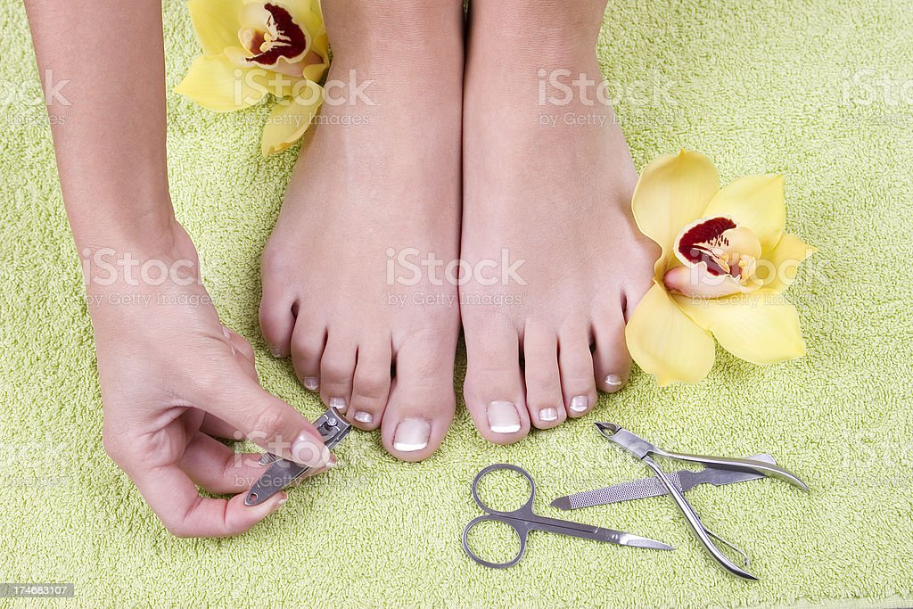pedicure stock photo