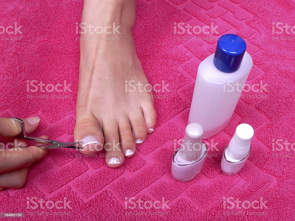 Pedicure royalty-free stock photo