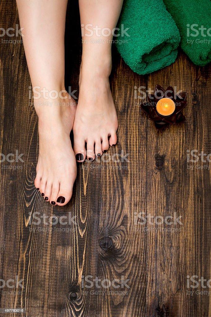 pedicure spa stock photo