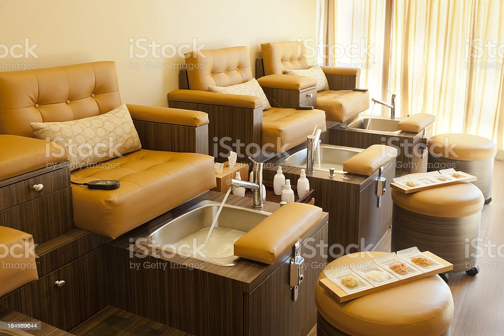 Pedicure Stations stock photo