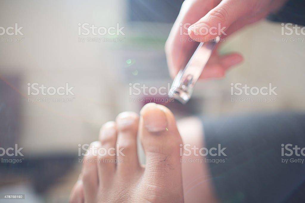 pedicure treatment man stock photo