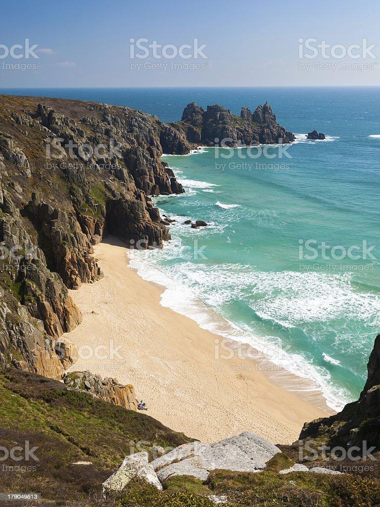 Pedn Vounder plage Cornwall photo libre de droits