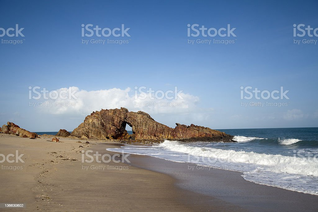 Pedra Furada in Jericoacoara Brazil stock photo