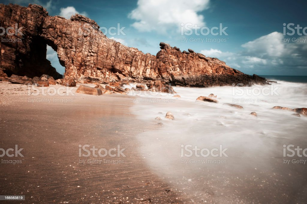 Pedra Furada, Jericoacoara, Brazil stock photo