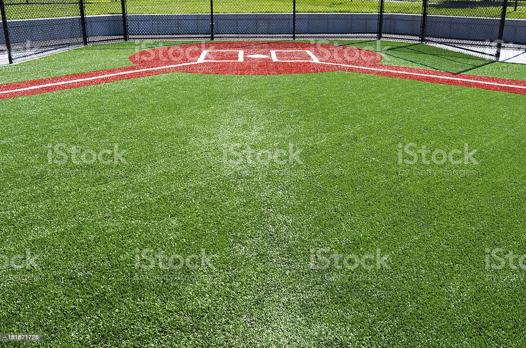 Pee wee baseball field stock photo