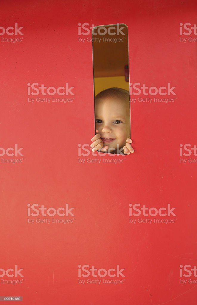 Peek a Boo royalty-free stock photo