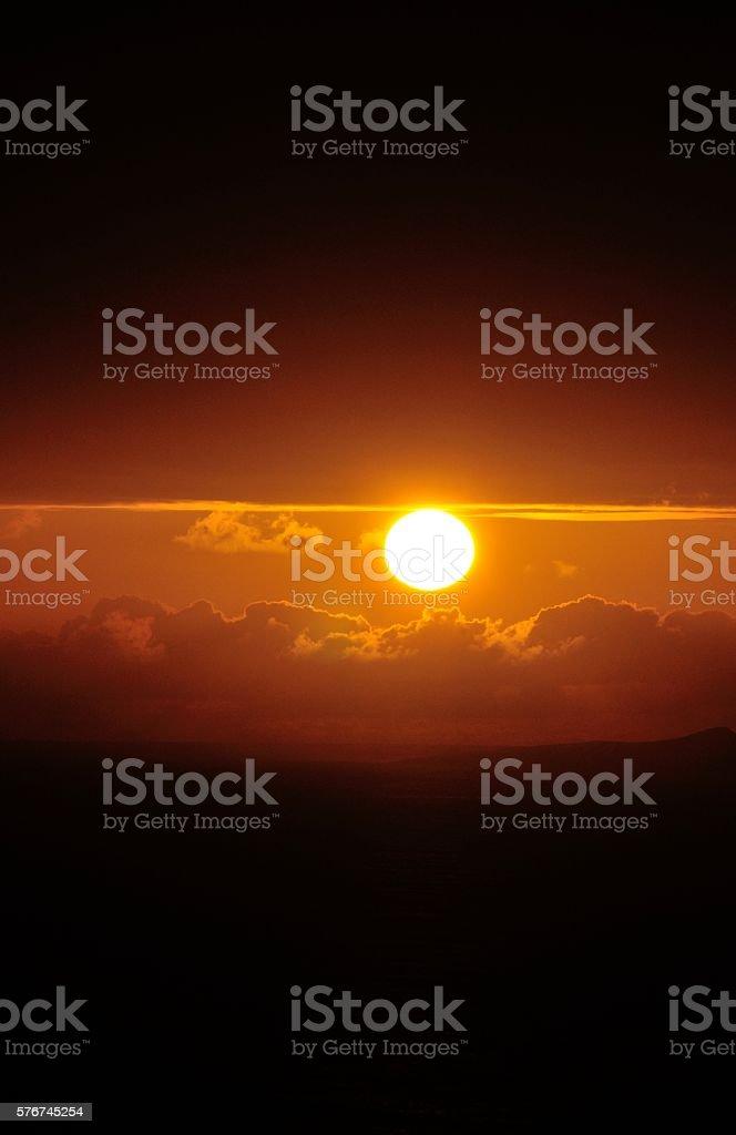 Peek into sunset stock photo