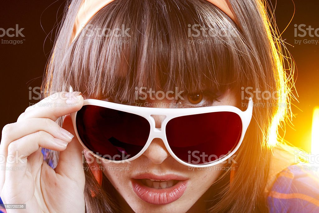 Peek through Sunglasses royalty-free stock photo