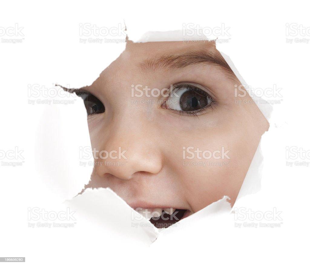 Peek-a-boo! Laughing stock photo