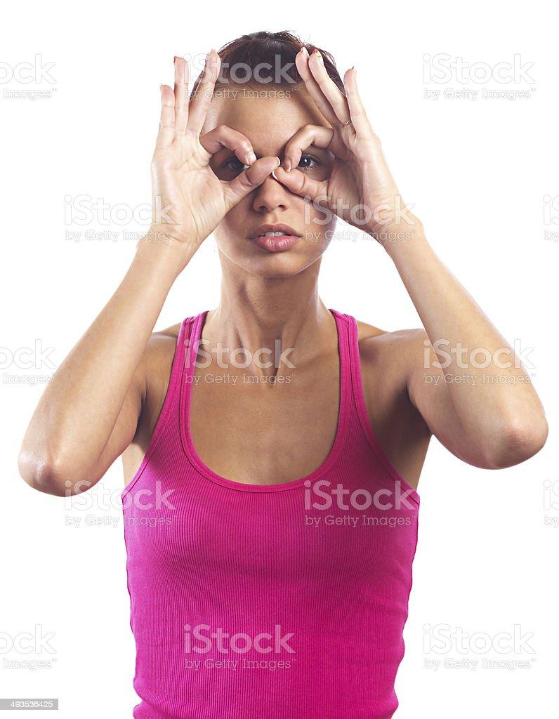Peek-a-boo! stock photo